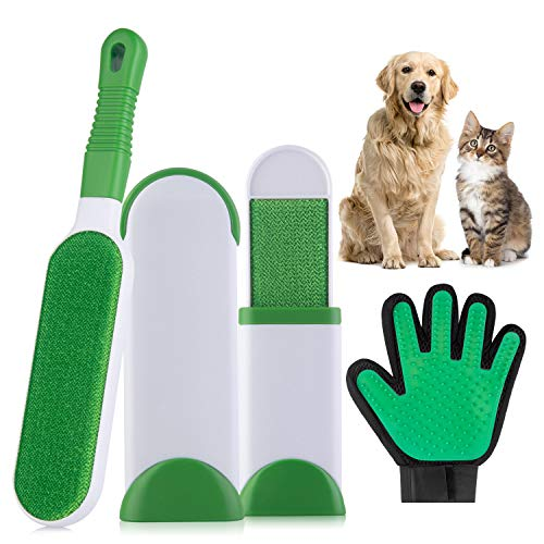 Yomao Haustier Bürsten, Tierhaarentferner Handschuh Haarentferner Bürste von Hunde Katze, Remover Kleiderbürste Fusselbürste Pet Massage Bürsten Handschuh, Reinigungsbürste für Kleidung Sofa Textilien