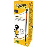 BIC Druckbleistift Matic, 0.7 mm, HB, sortierte Clipfarben, inklusive 3 Minen, Schachtel à 12 Stück, schwarz