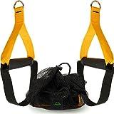 CampTeck U6836 Griffe mit Fußschlaufe für Fitnessbänder, Schlingentrainer, Kabelzugmaschine, Home Fitnessstudio usw. - mit Tragetasche