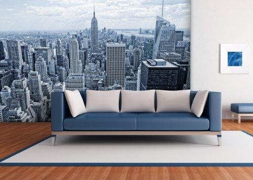 Fototapete Skyline of New York II in verschiedenen Größen - als Papiertapete oder Vliestapete wählbar - PVC frei, geruchloser, umweltfreundlicher Latexdruck ohne Lösemittel - Motivtapete Postertapete Bildtapete Wall Mural von Trendwände