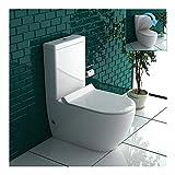 Komplett Design Stand-WC aus Keramik mit Spülkasten mit GEBERIT-Spülgarnitur und Duroplast WC-Sitz mit Soft-Close-Funktion