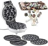 Rosenstein & Söhne Donut-Waffeleisen: 3in1-Donut-, Cupcake- und Cakepop-Maker, antihaftbeschichtet, 600 Watt (Donut-Gerät)