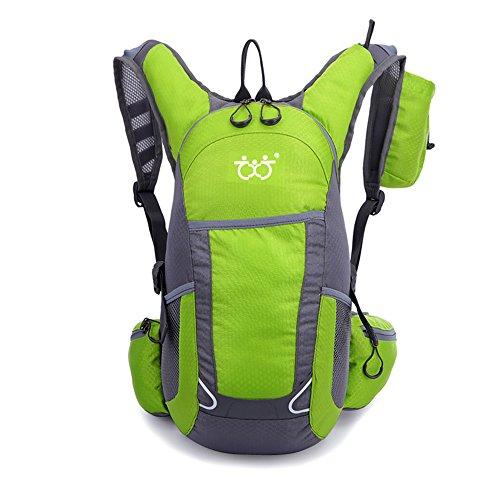 30L Ultraleichter Wasserdicht Outdoor Rucksack Sport Daypack Reiten Tasche Wanderrucksack Trekkingrucksack für Camping, Klettern, Radfahren(5Farbe) (grün-01)