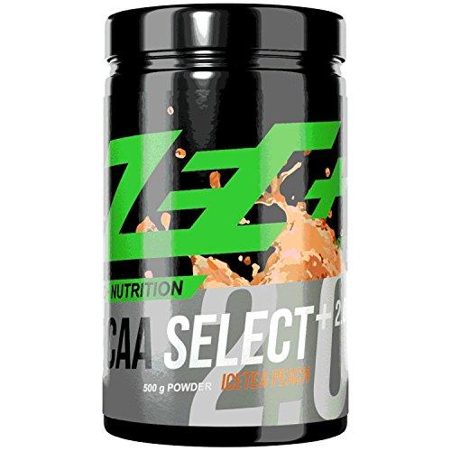 ZEC+ BCAA Select+ 2.0 | instantisierte Aminosäuren | L-Leucin | L-Valin | L-Isoleucin | perfekte Löslichkeit | sensationeller Geschmack | VEGAN | Geschmack ICETEA PEACH