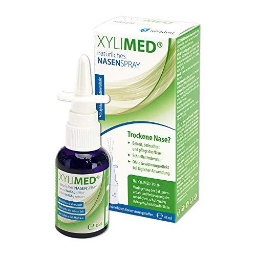 Nasenspray Erwachsene 45ml | Natürliches Xylit Nasenspray | Ideal als Schnupfenspray und gegen verstopfte Nase | Nasenspray Meersalz Alternative