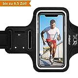 Mpow Sportarmband Handy für iPhone XS Max/XR/ 8 Plus/ 7 Plus Samsung S10 S9 S8【bis zu 6,5 Zoll】, schweißfest SportArmband Mit Reflektivband, Kopfhörer-Slot Key Slot, für Jogging, Radfahren