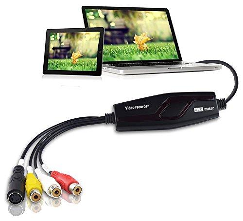 DIGITNOW! Video Grabber Karte erfassen Scart DV VHS V8 DVD Hi8 Analog Video Audio für Ihren Mac PC iPad und iPhone with scart adapter