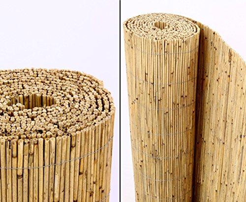 Schilfrohrmatten Premium 'Beach', 160 hoch x 600cm breit, ein Produkt von bambus-discount - Sichtschutz Matten Windschutzmatten ...