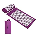 BulzEU - Akupressurmatte & Kissen Set/Akupunkturmatte Spike Yogamatte für Massage Wellness Entspannung und Verspannungen Entspannung Muskeln Entspannung nach Sport Genesung - mit Tragetasche