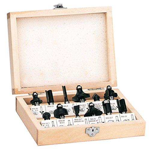 Einhell Fräser Set passend für Elektro Oberfräsen (12-teilig, Lieferung im Holzkoffer) RT-RO 55 / BT-RO 1200 E