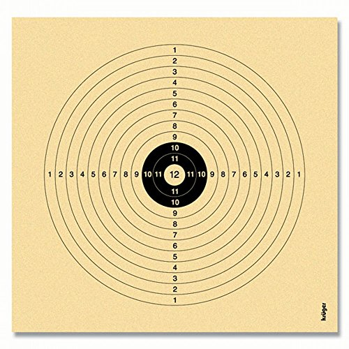 250 Stück Luftgewehrscheiben 14 x 14 cm / Zielscheibe Luftgewehr
