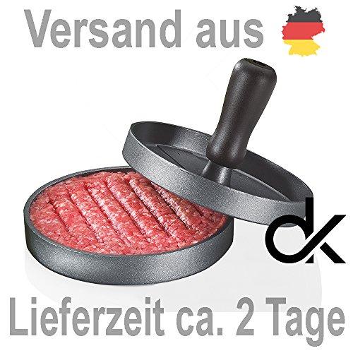 Hamburgerpresse Pattypresse Burgerpresse Hamburger Burger Hamburgermaker Hamburgerform Hamburgerformer aus Aluguss mit Antihaftbeschichtung