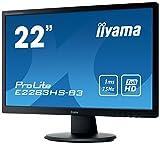 iiyama ProLite E2283HS-B3 54,7cm (21,5 Zoll) LED-Monitor Full-HD (VGA, HDMI, DisplayPort) schwarz