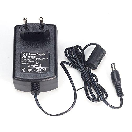 ZOSI DC 12V 2A Netzteil Adapter Trafo Power Supply Netzgerät 5.5mm x 2.1mm EU-Stecker für CCTV DVR Kamera Schwarz …
