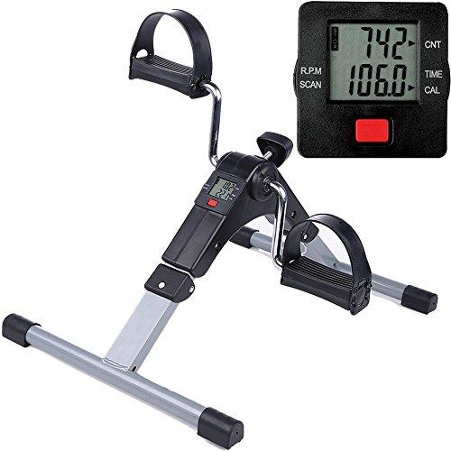 himaly Minibike Heimtrainer Bewegungstrainer Pedaltrainer Trainingsgerät Fitnessgerät mit LCD-Monitor Einstellbarer Widerstand Fahrradtrainer Fitness-Fahrrad Heimfahrrad Beintrainer Zuhause(Upgrade)