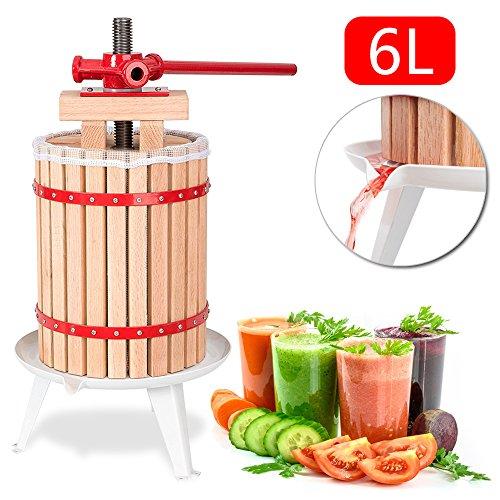 Hengda 6 Liter Obstpresse Presse Beerenpresse Apfelpresse Obstpresse SaftMaischepresse Weinpresse mit Presstuch