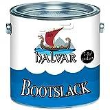 Halvar skandinavischer 2-K GLÄNZEND Yachtlack inkl. Härter Bootslack für GFK/Polyester / Kunststoff Alle RAL Töne und farblos Bootsfarbe Yachtfarbe 2-Komponenten Lack (2,5 kg, Weiß RAL 9010)
