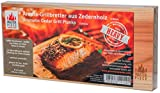 Masterpiece 'heavy' - Aroma Grillbretter aus Zedernholz, 15 mm stark, Grillplanke Premium Qualität, Set á 2 Stk, Maße: 145 x 295 mm, BBQ Räucherbretter inkl. Rezepte