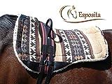 Esposita Reitgurt, Reithilfe mit zwei stabilen Ledergiffen Rot-Schwarz, Gr. Pony