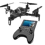 Holy Stone FPV HS230 RC Drohne racing drone mit 120° FOV 720P HD Kamera Live Übertragung, hohe Geschwindigkeit Helicopter Quadrocopter ferngesteuert mit 5.8G LCD-Monitor, Echtzeit-Bildübertragung, Kopfloss Modus, high speed, 3D Looping, enthält zwei modulare Batterien, längere Flugzeit für Anfänger, Experte und Kinder ab 14,farbe schwarz