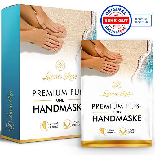 [3 Paar] Fußmaske zur Entfernung von Hornhaut   Nach nur einer Anwendung   Dermatologisch getestet   Hornhaut entfernen mit Fußpeeling Socken für Füße   Fussmaske als Hornhautentferner Maske