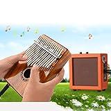 Kalimba, 17-Tasten-Portable Solid Finger Klavier Holz Karimba Instrument mit Kabel für den Anschluss von Audiogeräten, 18.5 * 13 * 5cm