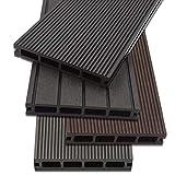 Home Deluxe WPC Terrassendiele | 4 verschiedene Farben | verschiedene Flächen | (12 m², Anthrazit)