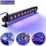 UV LED-Beleuchtung, Elfeland Schwarzlicht (9 LEDs x 3W AC100-240V ) Partylicht Effektlicht Bühnenbeleuchtung für Club Party Karneval Disco Ballsaal Bühne
