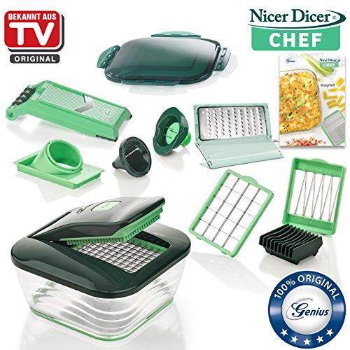 Genius Nicer Dicer Chef | 15 Teile | Obst & Gemüseschneider | Bekannt aus TV | NEU
