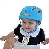 ELENKER Babyhelm Kopfschutzmütze gegen Stöße für Kleinkind beim Lauflernen verstellbar Safety Helmet Blau