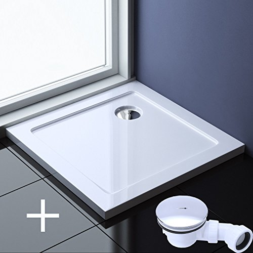90x90x4 cm Design Duschtasse Faro1 in Weiß inkl. AL02, Duschwanne, Acrylwanne