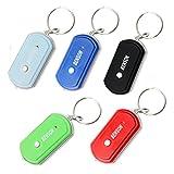 Schlüsselfinder inkl. LED - Taschenlampe - Reagiert auf Pfeifen, rufen oder schreien - (türkis)