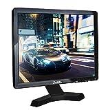 JaiHo 17-Zoll-Breitbild-TFT-LCD-Monitor, 1280x1024 Auflösung 1080P 4: 3 Full HD-Monitor Farbdisplay mit PC/BNC/VGA/AV/HDMI/USB Kopfhörereingang, integrierte Dual-Lautsprecher (17 inch 1280x1024)