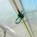 50x Gewächshausclips - Stabile Pflanzenhalter Aufhängevorrichtungen Ösen für Gewächshaus, Perfekte Rankhilfe Clips für ihr Paradies