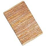Flickenteppich handgewebter Teppich aus Baumwolle, stylischer und strapazierfähiger Fleckerlteppich in vielen verschiedenen modischen Ausführungen erhältlich (50 x 80cm / orange - coral)
