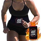 CybGene Bauchweggürtel, Schwitzgürtel zur Fettverbrennung, Neopren Sauna Fitnessgürtel, Verstellbarer Waist Trimmer,hot Belt,Verbesserte Kernstabilität beim Abtransport von Übergewicht (Rot M)