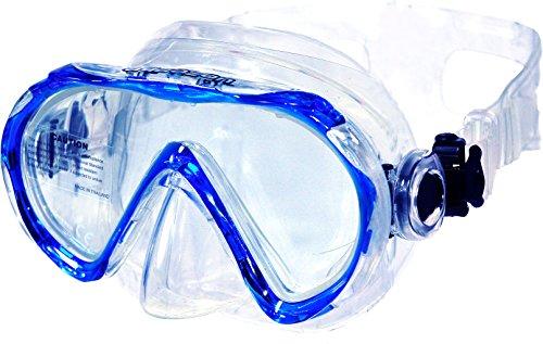 Aquazon Schnorchelbrille, Taucherbrille, Schwimmbrille Beach, Blau, für Kinder, Jugendliche von 7-14 Jahren, Junior, Medium