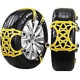 DINOKA Schneeketten, 6 pcs Universal Anti Schnee Ketten Anti-Rutsch und Einstellbar für Auto SUV LKW Reifenbreite mit 165mm-265mmm/ 7'-11' ( (6er Set für 2 Reifen)