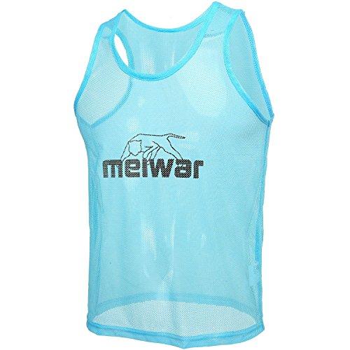 meiwar Trainingsleibchen 10er Set Markierungshemden in Blau, Größe S