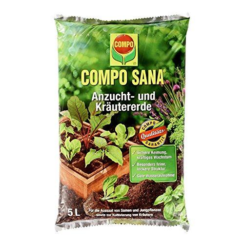 COMPO SANA Anzucht- und Kräutererde, hochwertige Spezialerde für Aussaaten, Kräuter, Stecklinge und Jungpflanzen