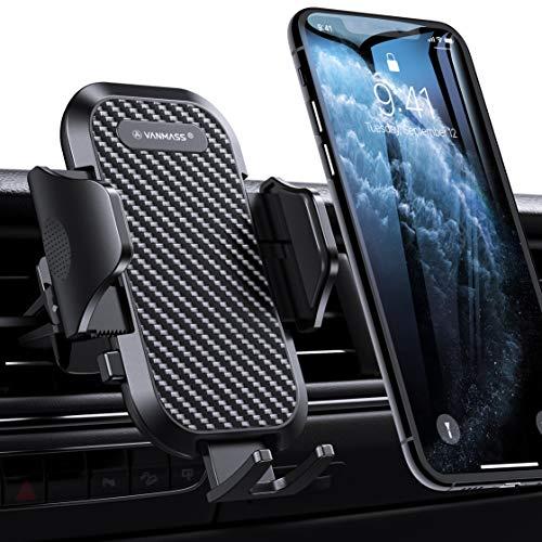 [2019 Upgrade] VANMASS Handyhalterung Auto Handyhalter fürs Auto Lüftung 360°Drehbar Ausdehnbarer Halterfüße 2 x Lüftungsklammern Universal für alle 4-7 Zoll Smartphones iPhone Samsung LG Huawei Serie