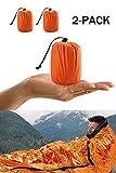 Notfall-Zelt, Survival Schlafsack, Notfall Outdoor Tube Zelt mit Ultraleicht hitzeabweisend Kälteschutz 2 Packung