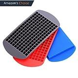 Silikon Eiswürfelform mini 3er Pack 1*1*1cm 160 Eiswürfel BPA frei mit FDA Zertifizierung -40-230℃ Küchenhelfer Kochzubehöre Rot+Blau+Schwarz