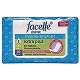 facelle diskret Hygiene-Einlagen extra plus 1 x 10 Stück bei mittlerer Blasenschwäche, aktiver Geruchsschutz, sicherer Auslaufschutz, optimale Passform Medizinprodukt