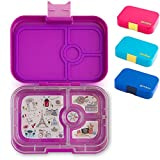 Yumbox Panino M Lunchbox (mit 4 Fächern, Bijoux Purple) - Brotdose mit Unterteilung | Bento Box mit Trennwand Einsatz | Brotbox für Kindergarten Kinder, Schule & Arbeit