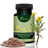 Löwenzahn-Wurzel Hochdosiert Vegavero   2.800 mg Löwenzahnwurzel pro Tagesportion   Premium Qualität 10:1 Extrakt   Vegan und OHNE chemische Zusatzstoffe   120 Kapseln