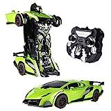 SainSmart Jr. RC Transformator Roboter-Auto, Fernbedienung Aktion Deformation Figur, Form-Schicht-Modell Auto, One-Touch-Transforming (Grün)