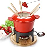 fondue set keramik cheese Gusseisen von 6 Gabeln /DIY fondue set chocolate