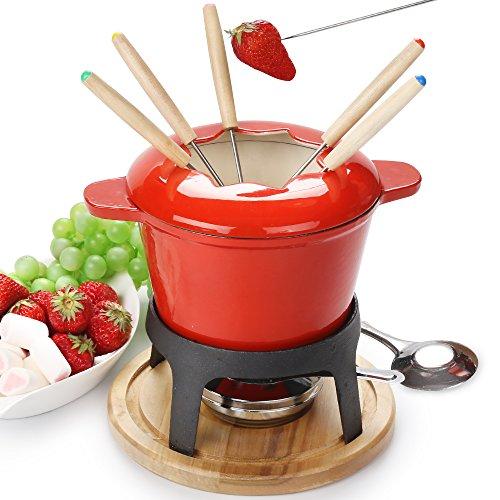 fondue set keramik cheese Gusseisen von 6 Gabeln /DIY fondue set chocolate