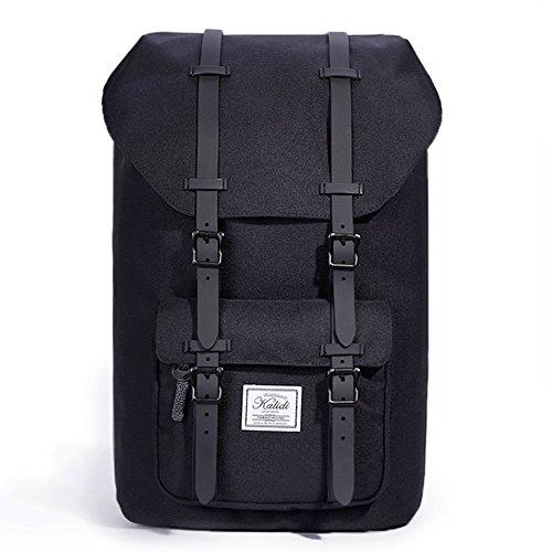 KALIDI 17 Zoll  Laptop Rucksack Backpack Schulrucksack für bis zu 15.6 zoll Laptop Notebook Computer Arbeit Campus Studenten Outdoor Reisen Wandern mit Großer Kapazität (Schwarz)